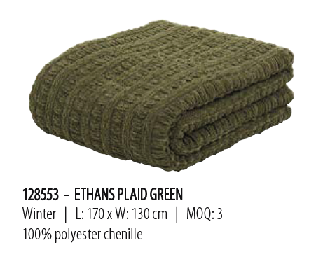 Ethans plaid green 170x130