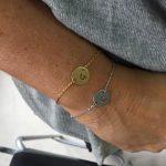 Armband met letterplaatje zilver