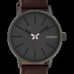 Timepieces horloge C10011 warm cognac/grijs