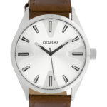 Timepieces horloge C10020 cognac/zilvergrijs