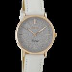 Vintage horloge C8830 wit/zilver met rose goud