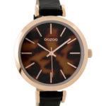 Timepieces horloge C9239 zwart leopard