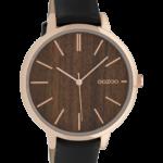 Timepieces horloge C9749 zwart/donkere eik