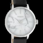 Timepieces horloge C9757 zwart/wit marmer