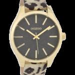 Timepieces horloge C9773 leopard/grijs