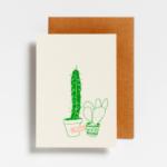 Postkaart Merci cactus