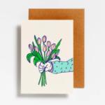 Postkaart Boeket tulpen