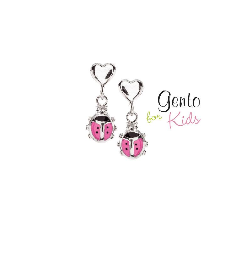 Lieveheersbeestjes roze met hartje