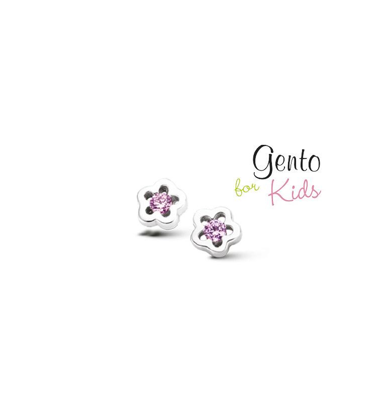 Roze bloempjes diamantjes stekertjes