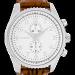 Timepieces horloge C6040 bruin wit/snake zilver