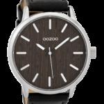 Timepieces horloge C9259 zwart/houten display