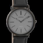 Timepieces horloge C9319 zwart/donkergrijs