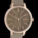 Vintage horloge C9748 taupe/eik