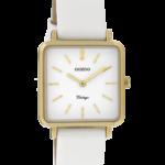 Vintage horloge C9940 wit/goud