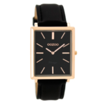 Vintage horloge C8189 zwart