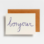 Postkaart Bonjour