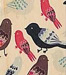 Houten bladwijzer 'birds'