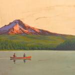 Houten poster 'canoe'